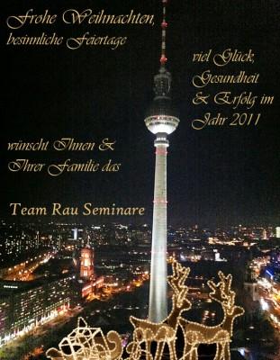 Weihnachts-Gruesse vom Team Rau Seminare