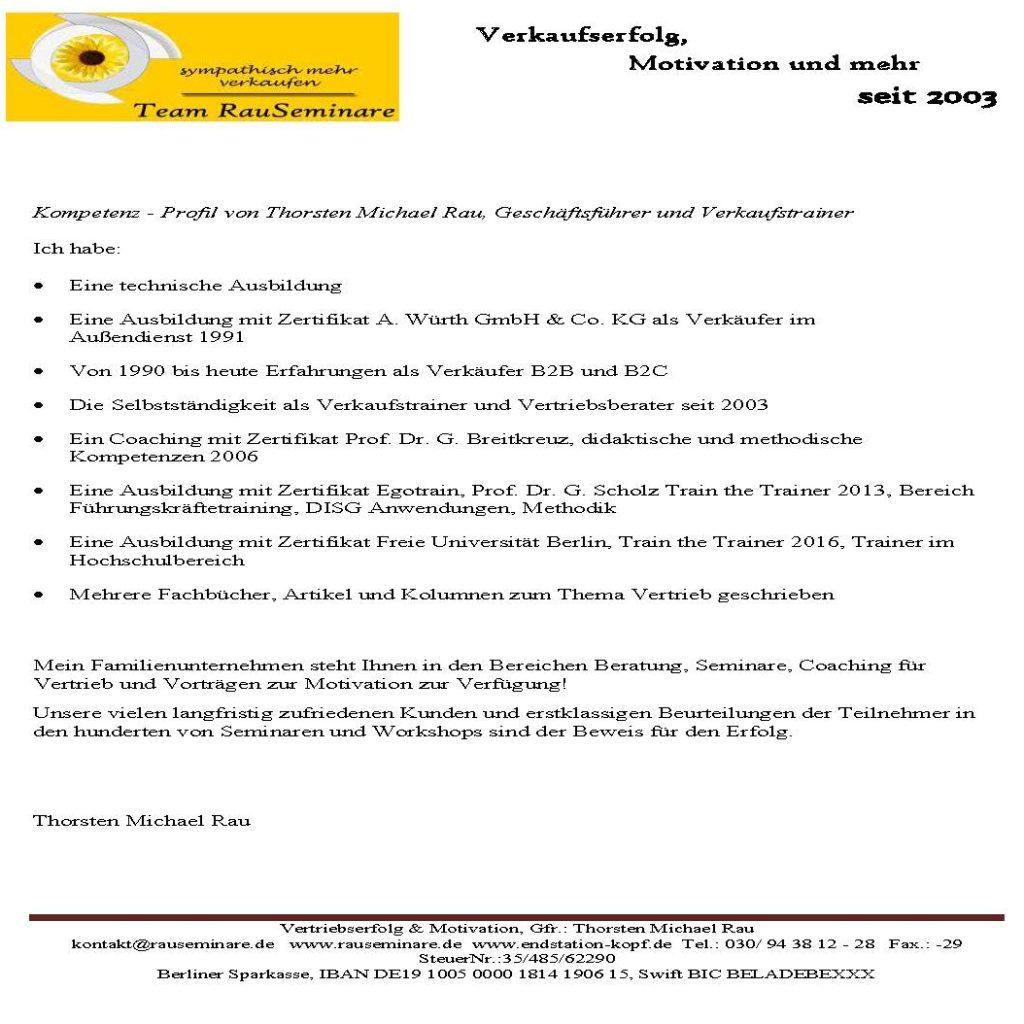 Kompetenzprofil Thorsten Michael Rau