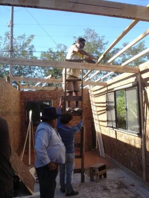 die kleine Dachkonstruktion