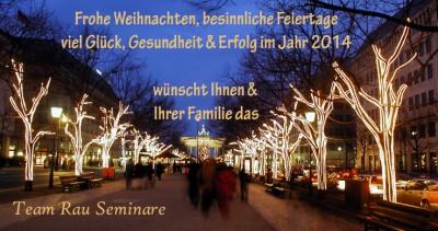 Weihnachtskarte 2013 Team Rau Seminare